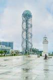 Ο αλφαβητικός πύργος σε Batumi στοκ εικόνες