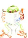 ο βάτραχος 02 χαλαρώνει Στοκ εικόνα με δικαίωμα ελεύθερης χρήσης