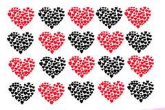 Ο βαλεντίνος εικονιδίων καρδιών Απομονωμένη καρδιά στο άσπρο υπόβαθρο, απεικόνιση Στοκ Εικόνες