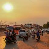 Ο βαρύς ήλιος πέρα από Sieam συγκεντρώνει στοκ εικόνες