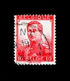 Ο βασιλιάς Αλβέρτος I «κανένα engravers ονομάζει», τύπος Pellens serie, circa 191 Στοκ Φωτογραφίες