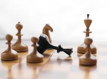 Ο βασιλιάς σκακιού είναι Στοκ Φωτογραφία