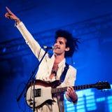 Ο βασιλιάς Charles μουσικών αποδίδει στο φεστιβάλ Στοκ Εικόνες