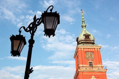 Ο βασιλικός βασικός πύργος του Castle στη Βαρσοβία, Πολωνία στοκ φωτογραφία