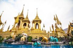 Ο βασιλικός νεκρικός βασιλιάς Rama πυρών ο 9ος της Ταϊλάνδης στοκ εικόνες με δικαίωμα ελεύθερης χρήσης