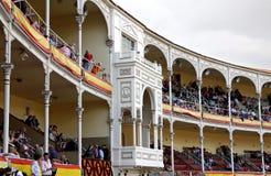 Ο βασιλιάς κατοικεί στο χώρο Plaza de Toros de Las Ventas Στοκ Φωτογραφία
