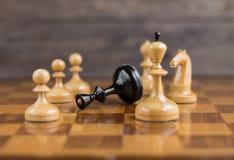Ο βασιλιάς σκακιού είναι Στοκ φωτογραφίες με δικαίωμα ελεύθερης χρήσης