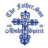 Ο βασιλικός μπλε πατέρας, ο γιος & το ιερό πνεύμα Στοκ εικόνα με δικαίωμα ελεύθερης χρήσης