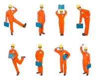 Ο βιομηχανικός εργάτης που απομονώνεται στο άσπρο υπόβαθρο Στοκ Εικόνες