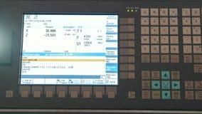 Ο βιομηχανικός μακρινός πίνακας ελέγχου του μετάλλου που εργάζεται manufactory, κλείνει εξαιρετικά επάνω φιλμ μικρού μήκους