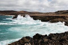 ο Βορράς ακτών του Aruba Στοκ φωτογραφία με δικαίωμα ελεύθερης χρήσης