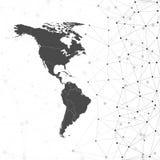 Ο Βορράς και διάνυσμα χαρτών της Νότιας Αμερικής, απεικόνιση Στοκ Φωτογραφία