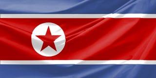 ο Βορράς της Κορέας σημαιών Στοκ Εικόνες