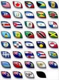 ο Βορράς 2 σημαιών της Αμερ&iot απεικόνιση αποθεμάτων