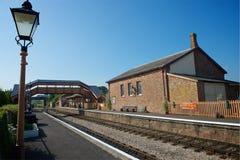 Ο Βορράς Devon UK σταθμών Williton Στοκ φωτογραφία με δικαίωμα ελεύθερης χρήσης