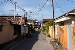 Ο Βορράς Sulawesi οδών φτωχογειτονιάς Manado στοκ φωτογραφίες