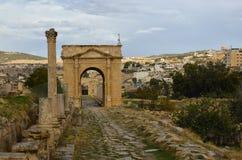 Ο Βορράς Tetrapylon, Jerash Στοκ φωτογραφία με δικαίωμα ελεύθερης χρήσης