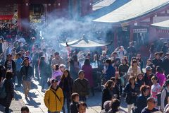 Ο βουδιστικός ναός Senso-senso-ji είναι το σύμβολο Asakusa Στοκ Εικόνα