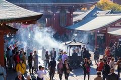 Ο βουδιστικός ναός Senso-senso-ji είναι το σύμβολο Asakusa Στοκ εικόνα με δικαίωμα ελεύθερης χρήσης