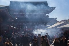 Ο βουδιστικός ναός Senso-senso-ji είναι το σύμβολο Asakusa Στοκ εικόνες με δικαίωμα ελεύθερης χρήσης