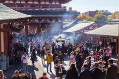 Ο βουδιστικός ναός Senso-senso-ji είναι το σύμβολο Asakusa Στοκ Φωτογραφίες