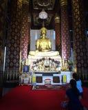 Ο βουδισμός του Βούδα προσεύχεται Στοκ Φωτογραφία