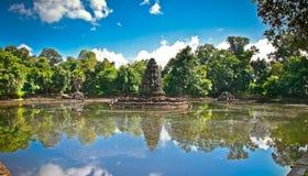 Ο βουδιστικός ναός Pean Neak, Siem συγκεντρώνει Καμπότζη Στοκ φωτογραφίες με δικαίωμα ελεύθερης χρήσης