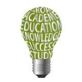 Ο βολβός αυξάνεται την επιτυχία s γνώσης εκπαίδευσης ακαδημίας Στοκ Εικόνες