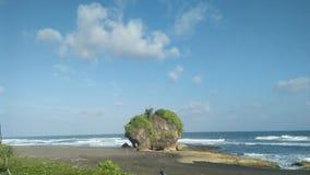 Ο βράχος ελών στην παραλία tne στοκ φωτογραφίες