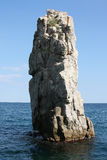 Ο βράχος στη θάλασσα Στοκ Εικόνα