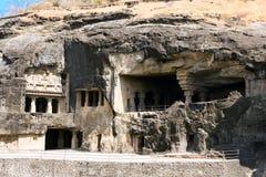 Ο βράχος Ellora χάρασε το βουδιστικό ναό στοκ φωτογραφίες