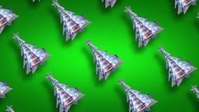 Ο βρόχος χριστουγεννιάτικων δέντρων διακοσμήσεων Χριστουγέννων πράσινος ακτινοβολεί v4 φιλμ μικρού μήκους