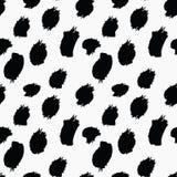 Ο βρώμικος Μαύρος λεκέδων στο λευκό ελεύθερη απεικόνιση δικαιώματος