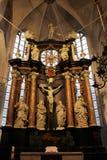 Ο βωμός στην εκκλησία ST Aegidia στο BECK LÃ ¼ Στοκ Εικόνες