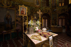 Ο βωμός της Ορθόδοξης Εκκλησίας Στοκ Εικόνες