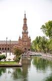 Ο βόρειος πύργος Plaza de España, Σεβίλλη Στοκ Εικόνες