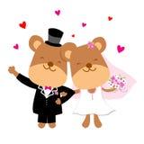 Ο γάμος αντέχει το διάνυσμα κινούμενων σχεδίων ελεύθερη απεικόνιση δικαιώματος