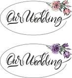 Ο γάμος μας roses02 απεικόνιση αποθεμάτων