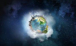 Ο γήινος πλανήτης μας Μικτά μέσα Στοκ φωτογραφία με δικαίωμα ελεύθερης χρήσης