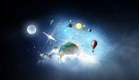 Ο γήινος πλανήτης μας Μικτά μέσα Στοκ Εικόνες