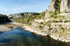 Ο γαλλικός ποταμός Ardeche Στοκ Εικόνες