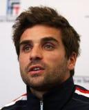 Ο γαλλικός tennisman Arnaud επιεικής Στοκ εικόνα με δικαίωμα ελεύθερης χρήσης