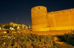 Ο γαρμένος πύργος της ακρόπολης του Karim Khan, Shiraz, Ιράν Στοκ Εικόνες
