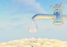 Ο γερανός, νερό, πτώσεις, η γη, ο ουρανός, σύννεφα Στοκ φωτογραφία με δικαίωμα ελεύθερης χρήσης