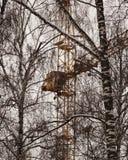 ο γερανός χτίζει στοκ φωτογραφία με δικαίωμα ελεύθερης χρήσης