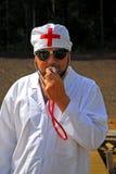 ο γιατρός εύθυμος προσποιείται Στοκ Εικόνες