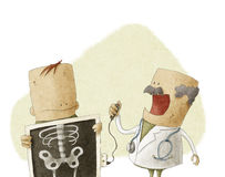 Ο γιατρός κάνει τον ασθενή μια ακτίνα X του σώματος Στοκ εικόνες με δικαίωμα ελεύθερης χρήσης