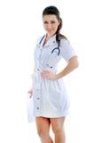 Ο γιατρός σε ένα άσπρο υπόβαθρο Στοκ Εικόνες