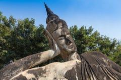 Ο γιγαντιαίος Βούδας - άγαλμα χαλκού στο Po Lin μοναστήρι Στοκ εικόνες με δικαίωμα ελεύθερης χρήσης