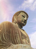 Ο γιγαντιαίος Βούδας ενός ναού πλησίον από το Τόκιο στην Ιαπωνία Στοκ Εικόνα